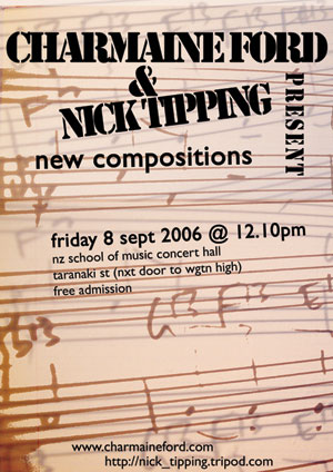 Charmaine Ford & Nick Tipping Present New Compositions